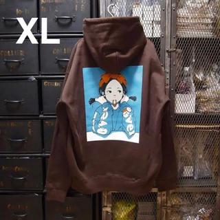 over print pop art hoodie パーカー フーディ XL(パーカー)
