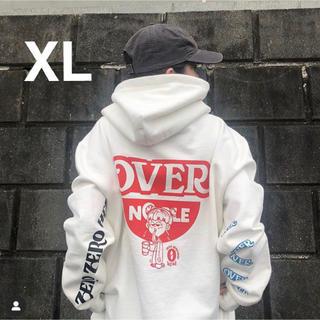 overprint over noodle hoodie XL(パーカー)