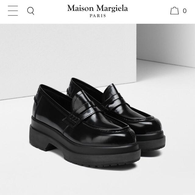 MM6(エムエムシックス)の一回使用のみ MM6 マルジェラ 厚底ローファー 完売アイテム レディースの靴/シューズ(ローファー/革靴)の商品写真
