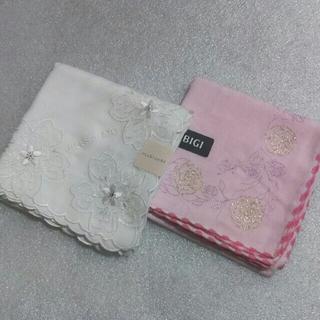 JILLSTUART - 値下げ📌ジルスチュアート&BIGI☆ガーゼハンカチ2枚セット