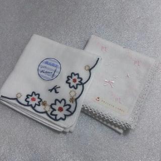キタムラ(Kitamura)の値下げ📌キタムラ&プライベートレーベル☆ガーゼハンカチ2枚セット(ハンカチ)
