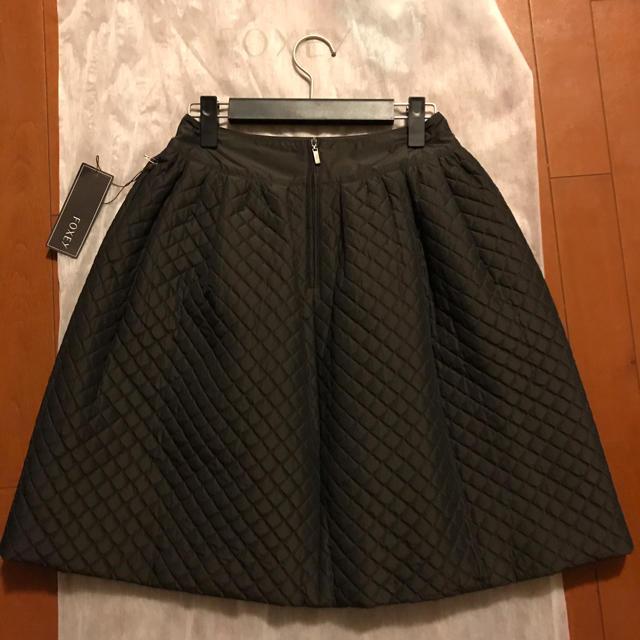 FOXEY(フォクシー)のfoxey☆フォクシー☆キルティングスカート☆カンパニュラ☆ブラウン40 レディースのスカート(ひざ丈スカート)の商品写真