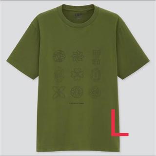 UNIQLO - UNIQLO ユニクロ 鬼滅の刃 コラボ Tシャツ  日輪刀  Lサイズ
