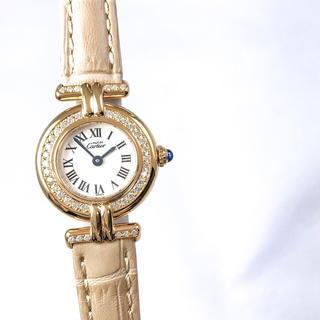 Cartier - 【仕上済/ベルト2色】カルティエ コリゼ ゴールド ダイヤ レディース 腕時計