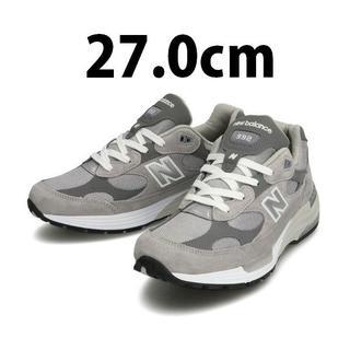 New Balance - 27cm 国内正規品 New Balance M992GR GRAY 新品