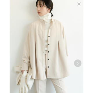 Aunt Marie's - タックバンドカラーシャツジャケット 2020aw / AUNT MARIE'S
