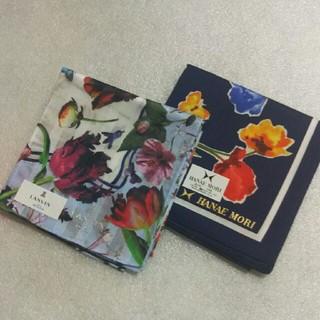 ランバンオンブルー(LANVIN en Bleu)のランバンen Bleu &ハナエモリ☆大判ハンカチ2枚セット(ハンカチ)