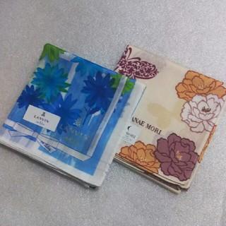 ランバンオンブルー(LANVIN en Bleu)のランバンen Bleu&ハナエモリ☆大判ハンカチ2枚セット(ハンカチ)