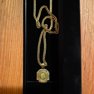 18K  18金 喜平ネックレス 50cm 8面カット エリザベスコイン付き