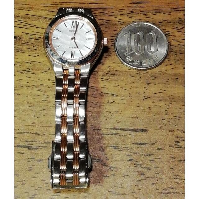 SEIKO(セイコー)のラ176. セイコー 超美品 ソーラー時計  シェル文字盤 レディースのファッション小物(腕時計)の商品写真