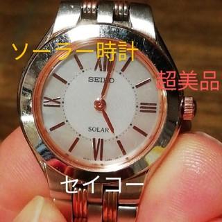 SEIKO - ラ176. セイコー 超美品 ソーラー時計  シェル文字盤