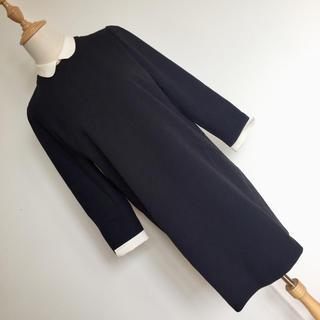 UNITED ARROWS - 美品 アナザーエディション 上品な白襟付き タイトワンピース