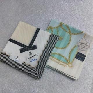 ランバンオンブルー(LANVIN en Bleu)のランバンen Bleu&マリオヴァレンチノ☆大判ハンカチ2枚セット(ハンカチ)