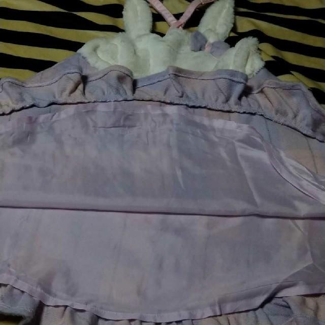 mezzo piano(メゾピアノ)のメゾピアノ うさぎ チェック柄 ジャンパースカート キッズ/ベビー/マタニティのキッズ服女の子用(90cm~)(ワンピース)の商品写真