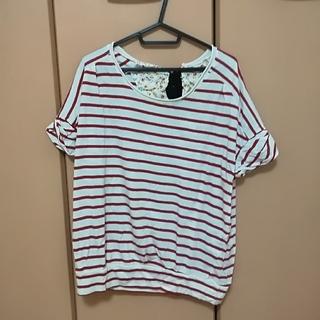 rivet & surge - リボン付きボーダーTシャツ