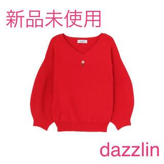 dazzlin - dazzlin ダズリン ヴィンテージローズ刺繍ニットプルオーバー レッド 赤