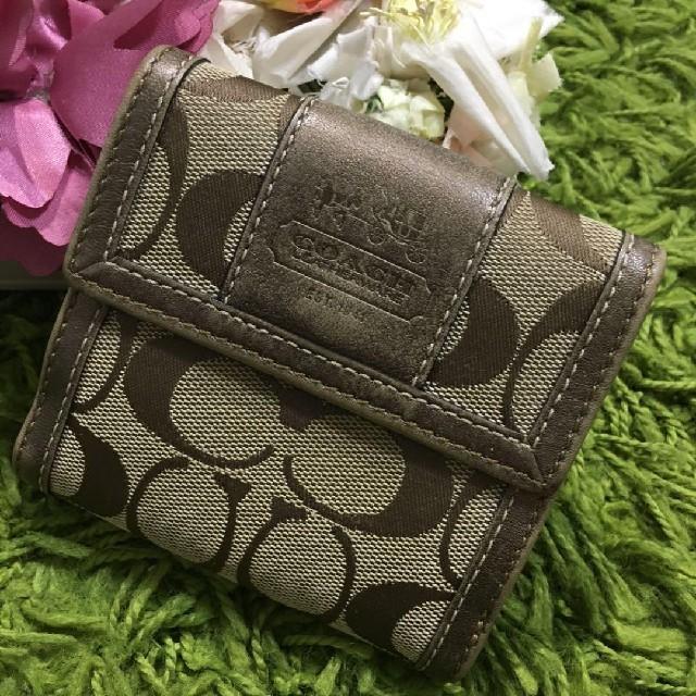 COACH(コーチ)のコーチcoach レディレザーウォレット 本革折財布 レディースのファッション小物(財布)の商品写真