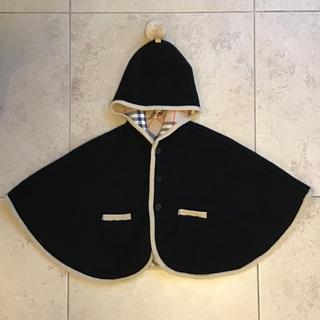 バーバリー(BURBERRY)のバーバリー ケープ(ポンチョ)黒(ジャケット/コート)