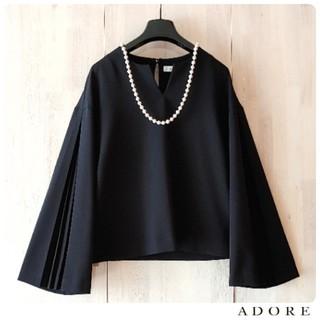 ADORE - ◆幻◆ 希少美品 定価3.1万円 ADORE サンディジョーゼットブラウス