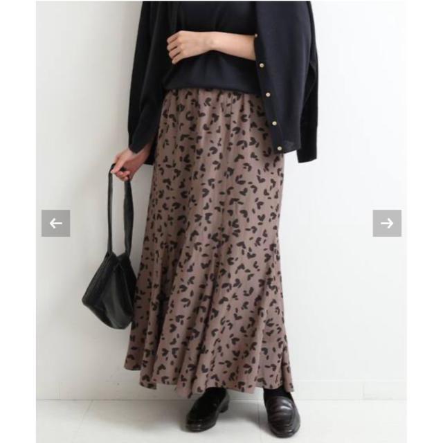 IENA(イエナ)の【新品】IENA ♡ニュアンスレオパードフレアスカート レディースのスカート(ロングスカート)の商品写真