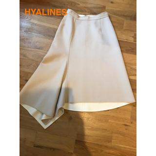 ドゥロワー(Drawer)の極美品☆ ストラスブルゴ HYALINESスカート(ひざ丈スカート)