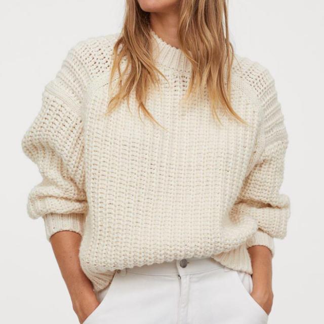 H&M(エイチアンドエム)の今季 新品 クルーネックチャンキーニット レディースのトップス(ニット/セーター)の商品写真