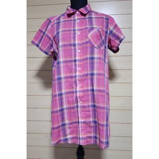 アベイル(Avail)のチェックロングシャツ(Tシャツ(半袖/袖なし))