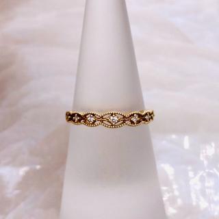 アガット(agete)の★agete★ アガット ダイヤモンドリング K14(リング(指輪))