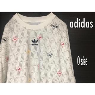 adidas - adidas originals総柄トレーナー O size 白 新品