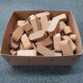 木片 廃材 80個 積み木 木のおもちゃ