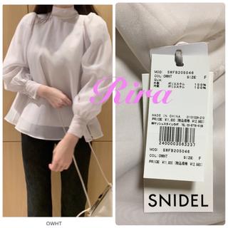 snidel - 完売🌷新作新品🍀スナイデル オーガンシースルーブラウス