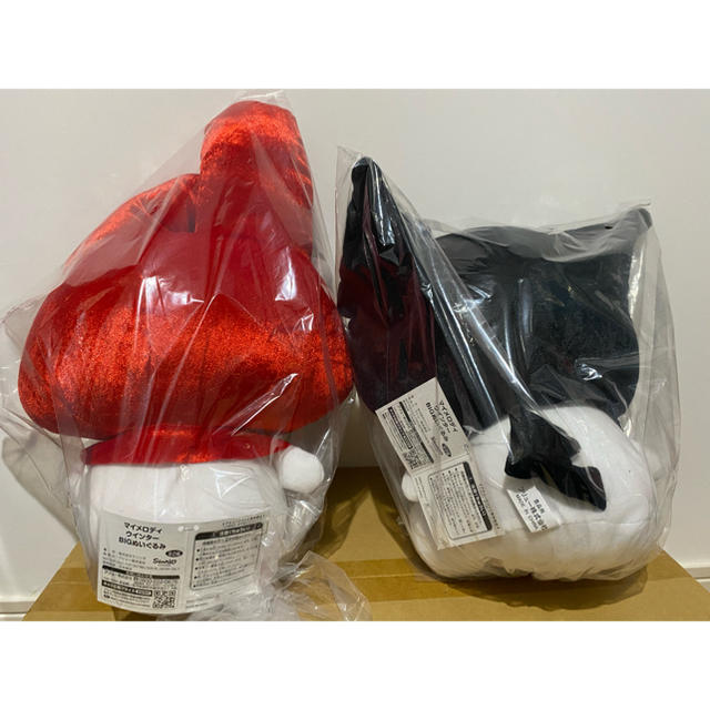 マイメロディ(マイメロディ)のマイメロディ ウインター BIG ぬいぐるみ 2種セット! エンタメ/ホビーのおもちゃ/ぬいぐるみ(ぬいぐるみ)の商品写真