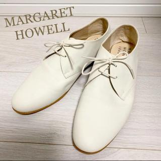 MARGARET HOWELL - 美品!マーガレットハウエル 24.0 本革 オフホワイト 日本製 革靴