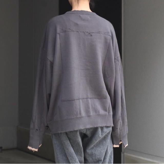 SUNSEA(サンシー)のstein 20aw スウェット チャコール  メンズのトップス(スウェット)の商品写真