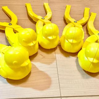 スノーボールメーカー アヒル製造機 サッカー ボール 雪遊び 砂遊び 2本セット(知育玩具)