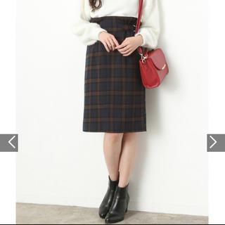 ViS - VIS チェック柄サイドベルトタイトスカート