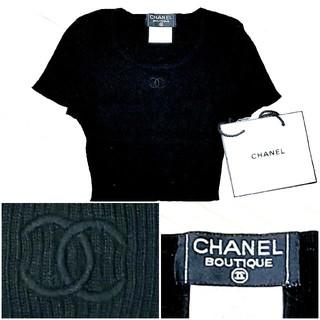 シャネル(CHANEL)の正規品中古良品 CHANELシャネル CoCoマークショート丈トップス(Tシャツ(長袖/七分))
