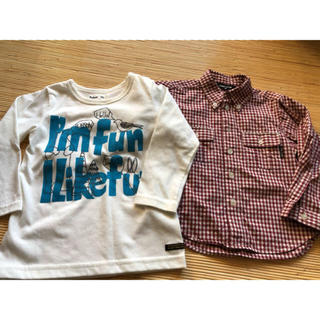 コムサイズム(COMME CA ISM)の長袖Tシャツ シャツ 2枚セット サイズ90(Tシャツ/カットソー)