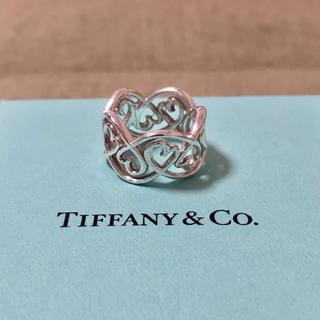 Tiffany & Co. - ティファニー ラビングハート スワール バンド リング 8号 925