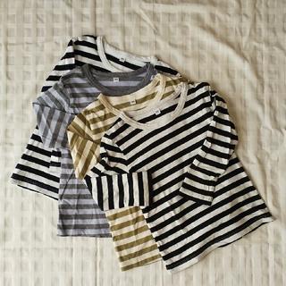 MUJI (無印良品) - 無印良品 こども長袖Tシャツ 100cm 4枚セット