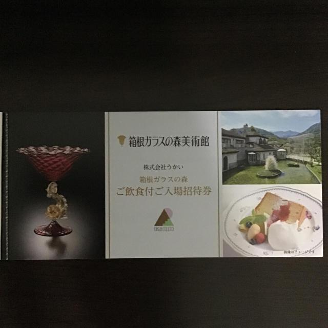 ガラスの森美術館 ご飲食付ご入場招待券 2枚 チケットの施設利用券(美術館/博物館)の商品写真