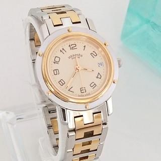 Hermes - 綺麗 エルメス 新品仕上げ 3針 コンビ レディース腕時計ウォッチ 着物 極美品