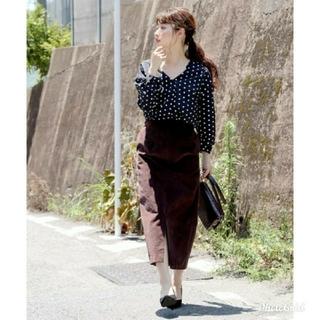 アンレリッシュ(UNRELISH)の新品タグ付き コーデュロイタイトスカート(ロングスカート)