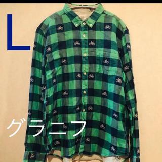 グラニフ(Design Tshirts Store graniph)のDesign Tshirts Store granigh チェック長袖シャツ(シャツ)