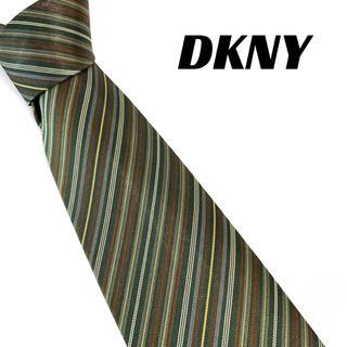 ダナキャランニューヨーク(DKNY)の【1504】美品!DKNY ネクタイ ストライプ グリーン系(ネクタイ)