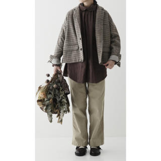 nest Robe - 未使用☆タグ付き ネストローブ撚り杢チェックジャケット