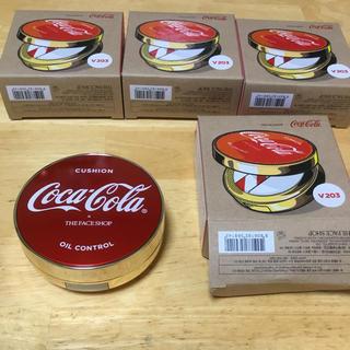 コカコーラ(コカ・コーラ)のコカコーラ the face shop ウォータークッション未使用新品4個セット(ファンデーション)