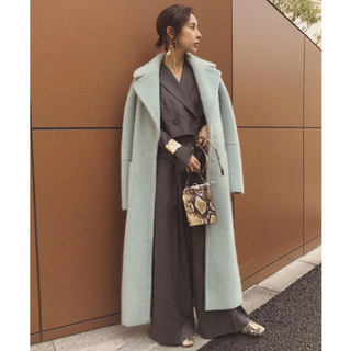 Ameri VINTAGE - BLANKET LIKE FAKE MOUTON COAT