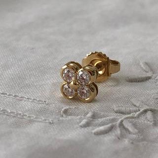 Tiffany & Co. - ティファニー 4ベゼルフラワー ピアス ダイヤ YG750イエローゴールド 片耳