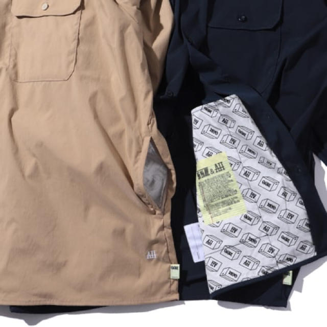 BEAMS(ビームス)の新品 SSZ × AH WORK SHIRTS NAVY ネイビー メンズのトップス(シャツ)の商品写真